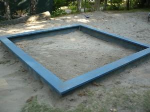 Unverwüstlicher Sandkasten aus Recyclingkunststoff